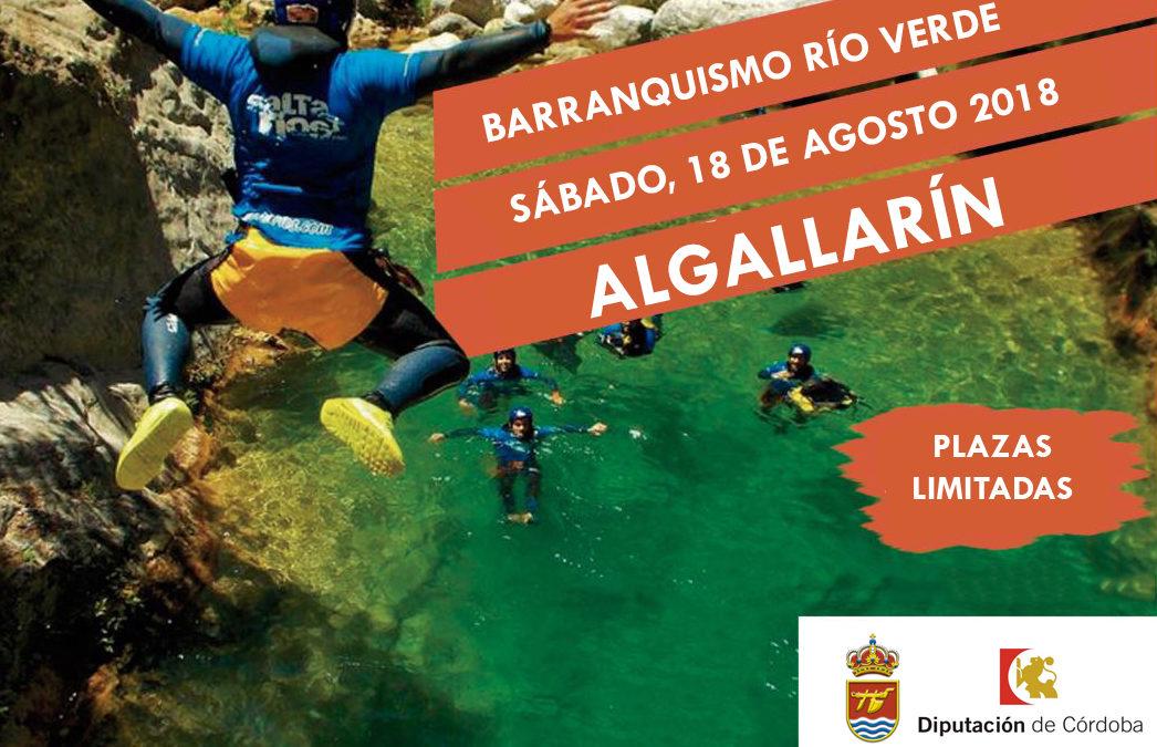 BARRANQUISMO RIO VERDE ALGALLARÍN