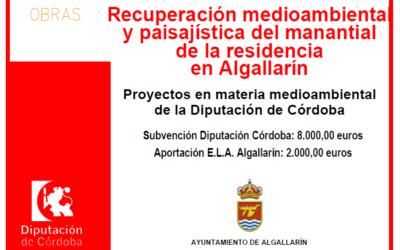 Recuperación medioambiental y paisajística del manantial de la residencia en Algallarín