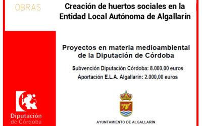 Creación de huertos sociales en la Entidad Local Autónoma de Algallarín