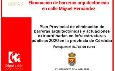 Eliminación de barreras arquitectónicas en calle Miguel Hernández